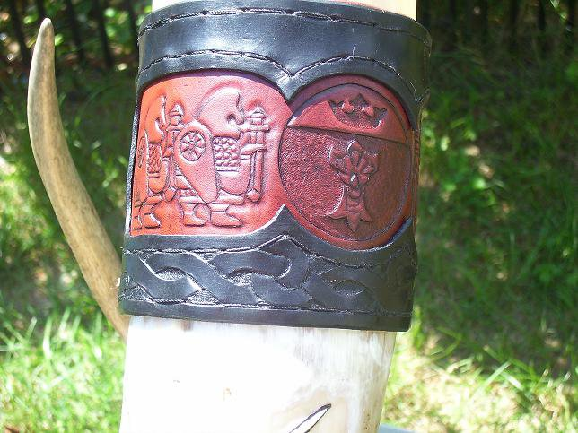 Tooled Two Toned Cuff
